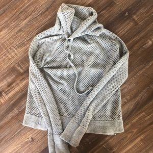 Prana cowlneck gray sweater size medium
